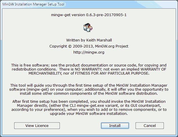 Installing MinGW 01